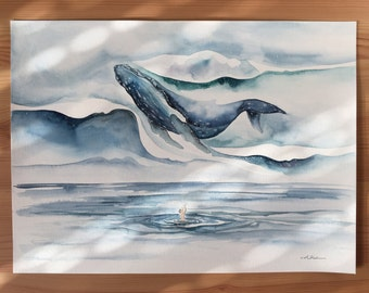Original Watercolour Painting 11x15 'Awoke from a Dream'
