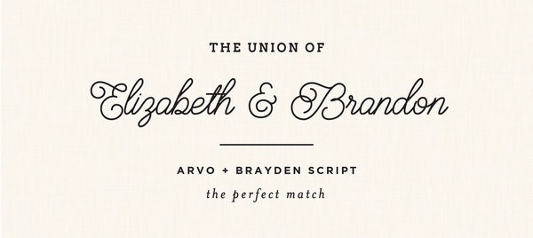 free wedding font pairings the perfect match 6 - Free Wedding Invitation Fonts