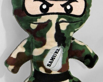 Ninja camo plush doll custom personalized
