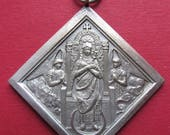 Antique Virgin Mary With Angels Antique Religious Medal Saint Monica Christian Mothers Pendant   SS288
