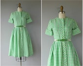 1950s Gingham Dress | 50s Dress | 50s Cotton Day Dress | 1950s Shirtwaist Dress | 1950s Dress
