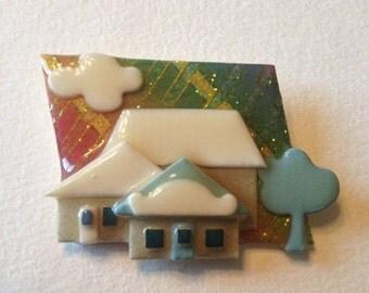 SALE Lucinda House Pin Sparkles Three Houses