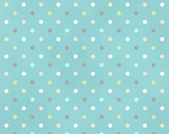 Guess How Much I Love You Cotton Fabric Y2107-98 Teal Dots