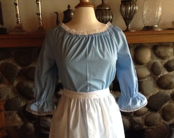 Custom Colonial Dress with Lace Costume Civil War Pioneer Prairie -New