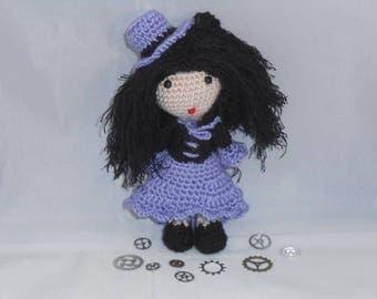Tutoriel explications poupée dolls steampunk pdf amigurumi gothique