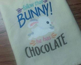 Easter bunny cream colored Cotton Kitchen Tea Towel