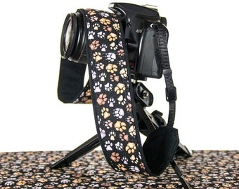 Camera Strap, Paw Prints, dSLR, SLR, Mirrorless, Camera Neck Strap, Canon, Nikon, Sony, Pentax, Minolta, Digital, Dog, 244