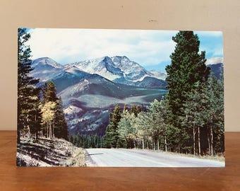 """Giant 6"""" x 9"""" Vintage Postcard. Mount Ypsilon. Rocky Mountain National Park."""
