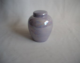 Ceramic Cremation Urn / Extra Small #2A / Mother of Pearl