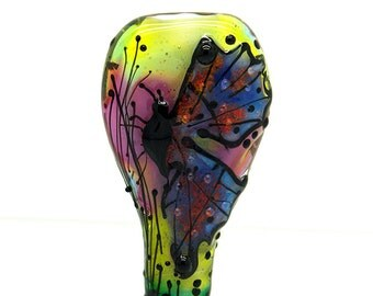 Michou Pascale Anderson -  *Farfalla del tramonto* Butterfly of Sunset*  - 1 lampwork Focal bead