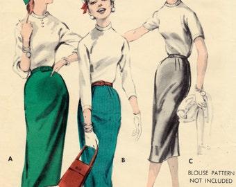 7887 Butterick Slender Skirt size 26 waist 36 Hip Vintage