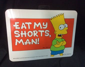 Simpsons Wall decor sign Eat My Shorts Man - 1990