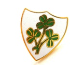 Pin - Shamrock - Irish - Ireland - Wedding - Bride - Groom - Bouquet Pin - White - Green - Recycled - St Patricks Day - Hat - Lapel - Celtic