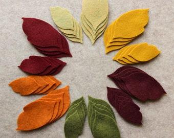 Autumn Harvest - Regular Leaves Value Pack - 144 Die Cut Wool Blend Felt Shapes