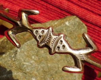 Navajo Sterling Silver Yei Cuff Bracelet