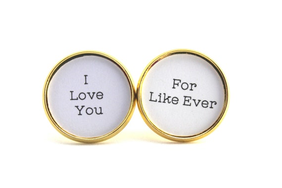 Forever, Anniversary Gift, Gift for Him, I Love You, To My Groom, Gift for Husband, Cufflinks for Groom, Groom Cufflinks, Gift from Bride