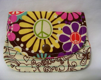 Card Keeper in Flower Power - Credit Card Caddy - Business Card Holder - Ready To Ship