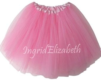 Pink Teen Adult 4 Layer Tutu ... Adult Tutu Costume Color Run Tutu Bachelorette Party