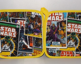 Star Wars  Pot Holders -Set of 2      Comic Book   Vader Solo Skywalker