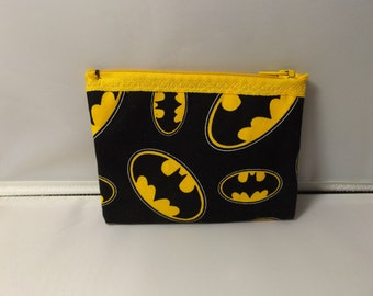 Batman Logo Fabric Coin Purse- Handmade DC Comic