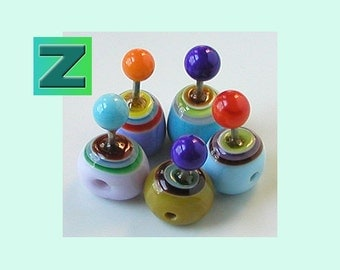 These Funny Things - 8 weird beads - lampwork by Sarah Moran