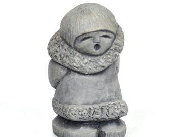 Vintage Mt. St. Helen's Ash Eskimo Sculpture Figurine