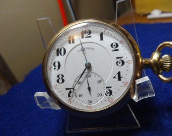 Illinois 17 Jewels 16 Size Hunting Pocket Watch-Just Serviced