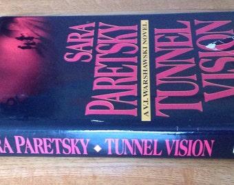 Vintage copy of Tunnel Vision by Sara Paretsky