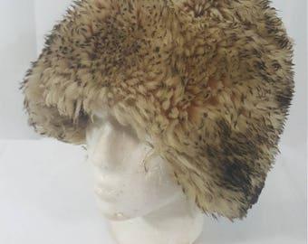 VINTAGE Genuine Shearling Trapper Hat