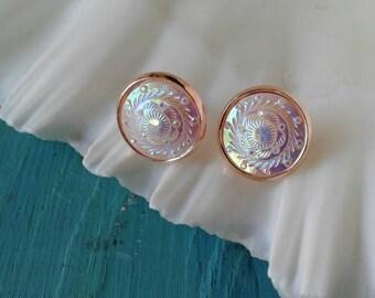 Country Western Bling Rose Gold Earrings