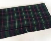Vintage Wool Fabric Yardage Tartan Plaid