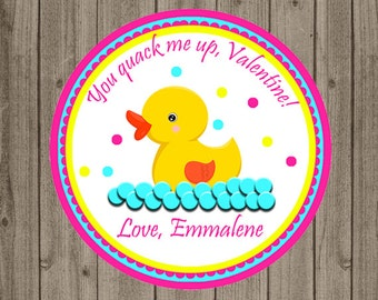 Rubber Duck Valentine, Classroom Valentine, Rubber Duck, Valentine's Day, Duck, Duck Valentine, School Valentine, Daycare Valentine,Exchange