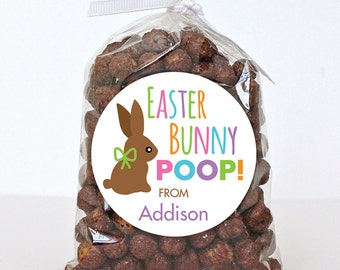 """Easter Stickers - """"Easter Bunny Poop"""" - Sheet of 12 or 24"""