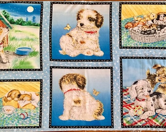 Adorable Puppy Pillow Panels to Sew