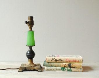 Vintage Jadite Table Lamp