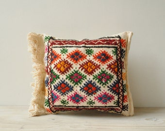 Vintage Embroidered Throw Pillow