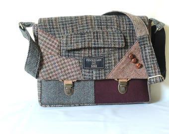 Messenger Bag mens iPad Messsenger bag iPad Sleeve iPad Case Womens messenger Bag Eco Friendly Recycled Suit Coat