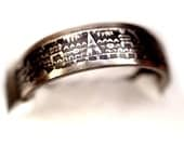 AZTEC CALANDAR Mexican 5 or 10 cent RING! Made from a genuine Vintage coin! pick your size