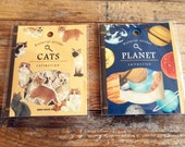 New- Japanese Die-Cut Flake Stickers / Seal bits - Cats and Planets at your choice for Journaling, scrapbooking, party favor, packaging