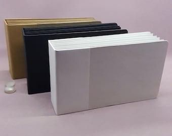 "4""x 6"" Photo Album, Pocket Tag Album, Kraft, Black, White, Ready to Finish"