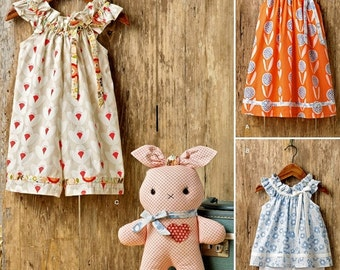 Toddlers' Dress Pattern, Baby Sundress Pattern, Summer Top and Knit Capris Pattern, Stuffed Bunny Pattern, Simplicity Sewing Pattern 8347