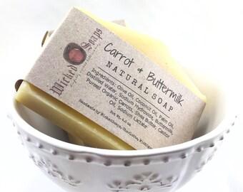Carrot & Buttermilk Artisan Soap - Handmade Soap, Baby Soap, Buttermilk Soap, Shea Butter Soap