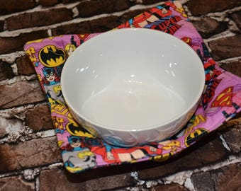 Girl Power Microwave Bowl Cozy/ Kitchen Decor/ Home Decor / Housewarming/ Wedding Gift/ Boyfriend Girlfriend Gift/ Hostess