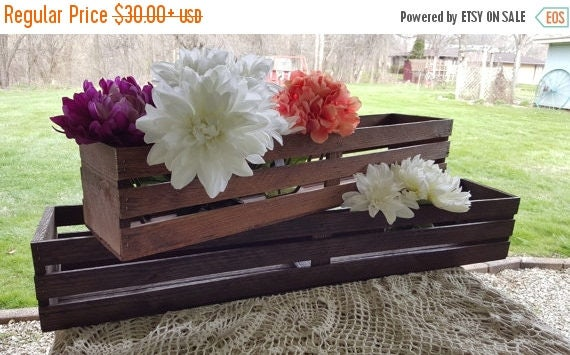 Great sale wooden crates table centerpiece wedding