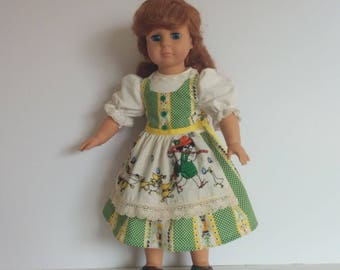 Mother Goose Dirndl for American Girl and 18 inch Dolls