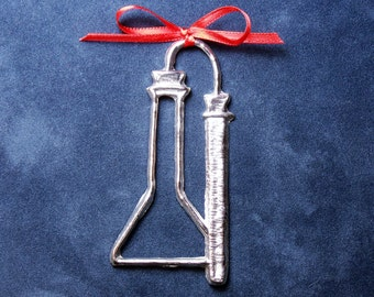 Pewter Chemistry Ornament