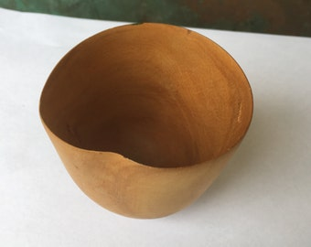 An Imperfect Just Right Carved Wooden Cup