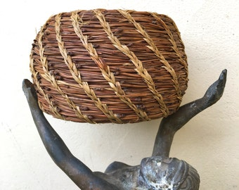 Vintage Native Pine Needle Basket