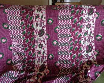 Batik Panel Fabric, Lightweight, Nearly 3 yards