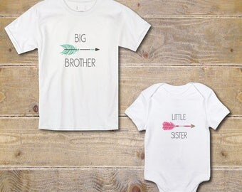 Big Brother Little Sister Shirts, New Big Brother, Baby Shower Gift, Big Brother Baby Sister, New Big Brother, Don't Mess With Her, Arrows